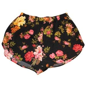 Pants - Ambiance Floral Silky Shorts